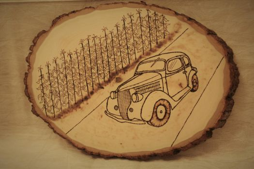 Woodburned Ford by Chiropterix-esque