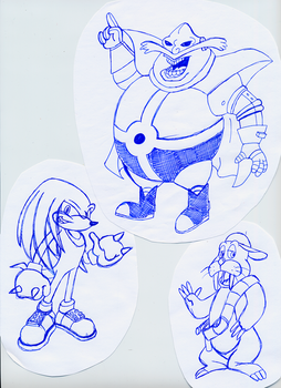 Sonic SATAM - Old Sketches 2 by Roveel
