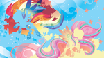 Rainbow Power: Rainbow Dash and Fluttershy by SpaceKitty