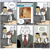 The Adventures of Business Cat - Sensitivity by tomfonder