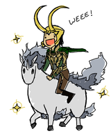 Loki and his Pokemon by superior-jeans