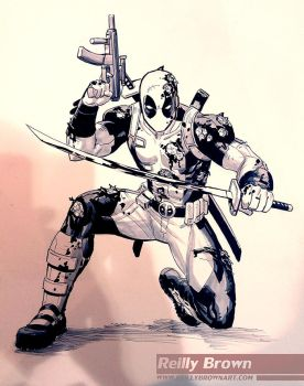 Deadpool commission by ReillyBrown