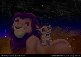 Simba and Mufasa by LillayFran