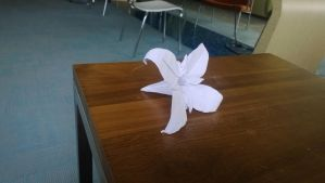 Origami Flower by taerkitty