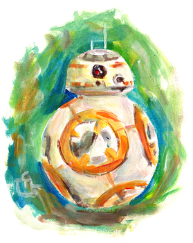 BB8 - Quick Painting by HeroFromMars