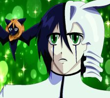 Ulquiorra and Ressha by tomboyish1dragon