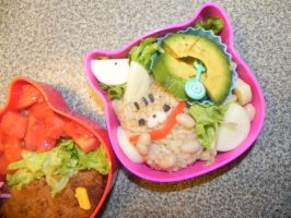 cat vegan bento~ by ConnieEyebrowsPower