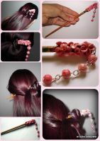 Cherry blossom hair stick by elbuhocosturero