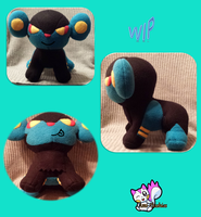 Luxray WIP by Ami-Plushies