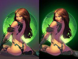 Witchblade colours by paulabstruse