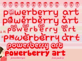 Font Pack (3) by PowerBerry10
