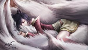 League of legends ahri HD Wallpaper by iKuehnDE