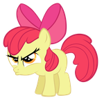 Apple Bloom - Hmph by EkkitaTheFilly