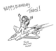 Happy birthday thael by Kenthayle