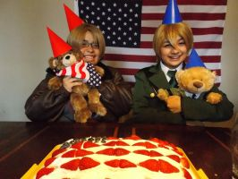Hetalia- Alfred and Arthur Bears by ThePentagonDragonK