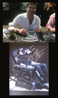 Joe Flanigan and Painting by jeminabox