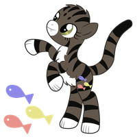 OC: Boots the Earth Felis Pony by SilverRomance