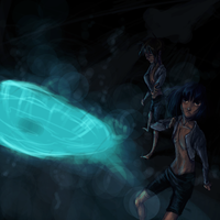 Alma x Yu Blue hole. by Tkaczka
