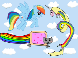 Join them, Nyan Cat by pEnELoPe3six
