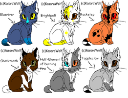 Warrior Cat adoptables1-GONE by Shadowpaw909