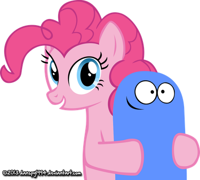 Pinkie Pie and Bloo by danspy1994