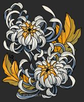 Entwined Chrysanthemums by mad-smile