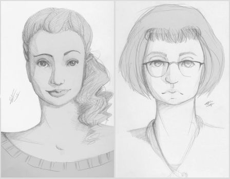 Faces I and II by Liljoja