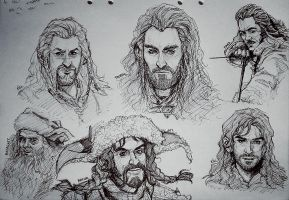 The Hobbit - Doodles by Kumagorochan