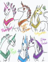 COLORFUL UNICORNS by Bandach