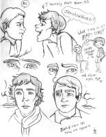Sherlock Sketches 1 by jenabhone