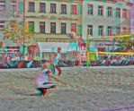 Beachball II Anaglyph 3D by zour