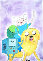 Finn, Jake and BMO! by Reikma