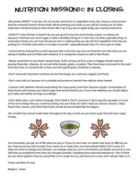 7 Nutrition Mission In Closing by FightTheAssimilation