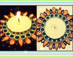 1. quilling - candle holder by nox-moonLover
