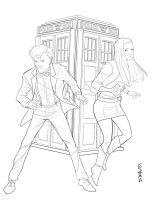 Dr. Who and Amy Pond by Supajoe