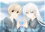 Yukito-Yue ::happy new year 2014:: by DianneDejarjayes