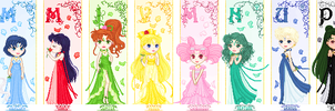 Sailor Moon Princesses by orenji-seira