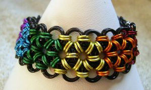 Japanese 12 in 2 Chain Maille Bracelet by FyrestormCreations