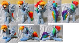 Posable large size Rainbow Dash (commission) by Rens-twin