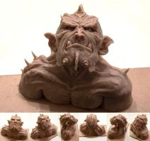 Ork sculpture by LopSkull