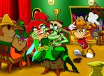 Bandits at the Glad saloon by gizmo01