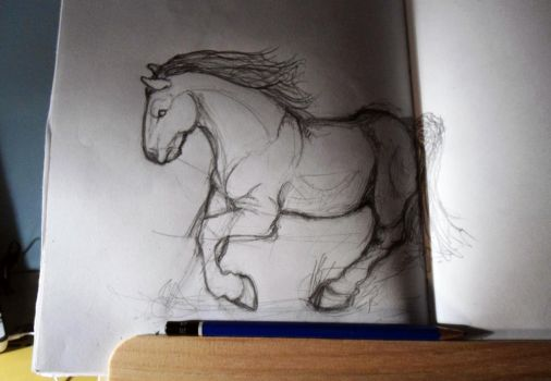 horse sketch by MaylaDR93