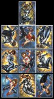 SPIDER GIRL ARANA SKETCH CARDS by AHochrein2010