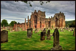 Melrose Abbey HDR by GaryTaffinder