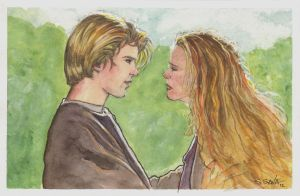 Westley and Buttercup Watercolor... by ssava