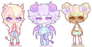 Pastel Adopts [1/3 open] by mvnchies