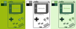 Game Boy: 4 Color Palettes by BLUEamnesiac