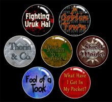 LotR 1inch Buttons by MadMouseMedia
