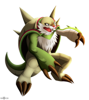 Collab: Chesnaught. by Razor-Zyrak