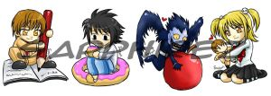 chibi Death Note previeww by sapphirez